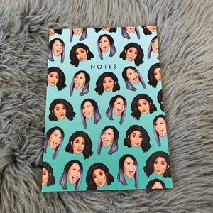Wactt Cardi B All Over Print Lined Notebook